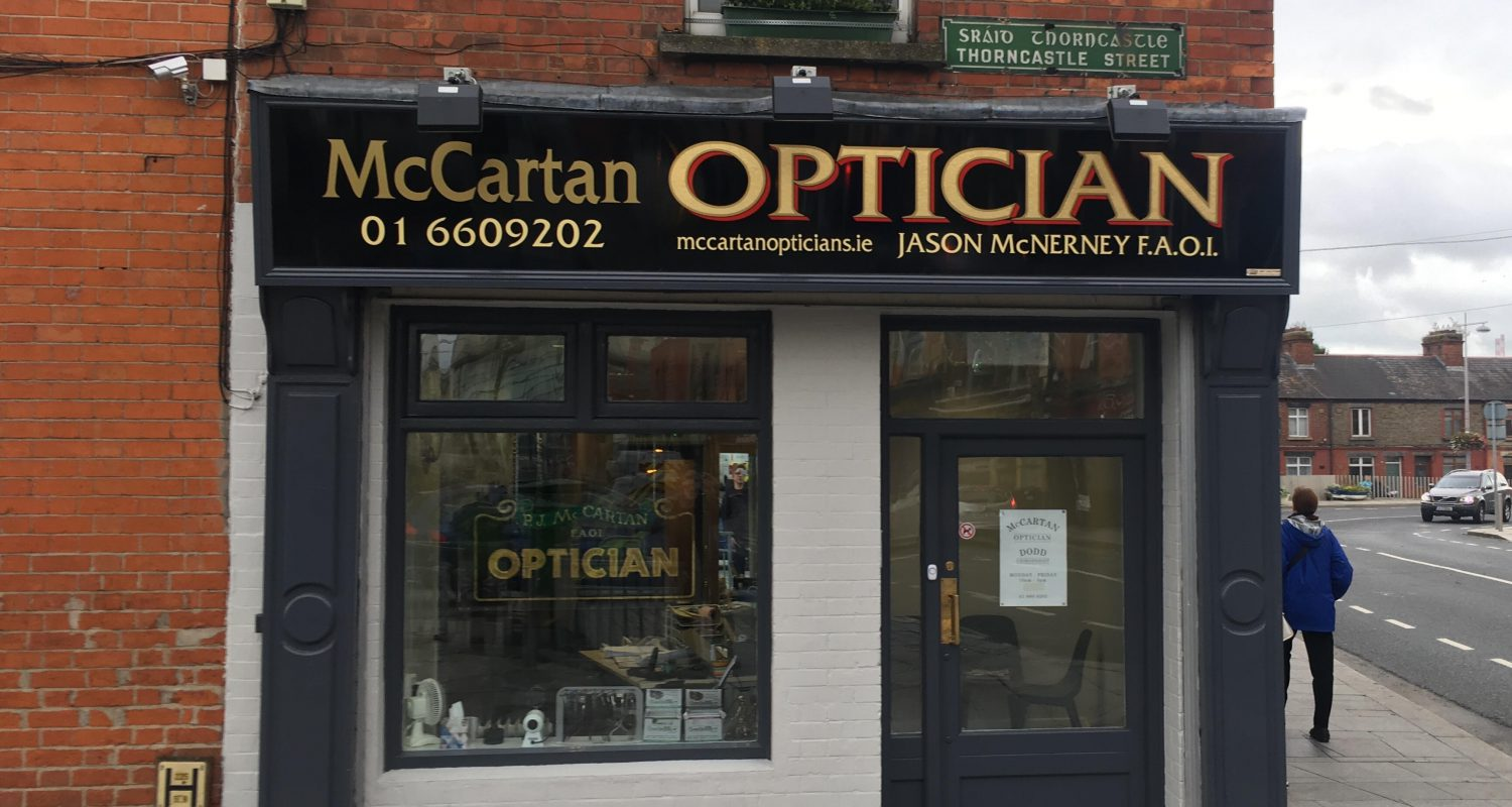 Photo outside McCartan Opticians